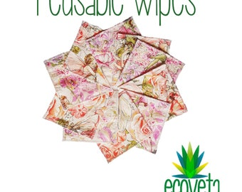 Reusable wipes // Face cloths // Nappy wipes // Diaper wipes // Wash wipes // Custom made to order.