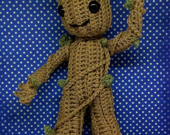 Baby Groot Little Groot amigurumi PDF crochet pattern inspired by Guardians of the Galaxy 2
