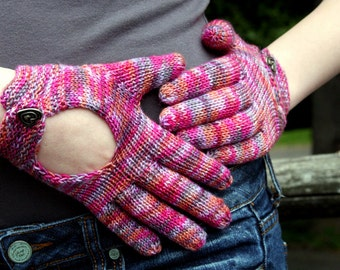Hand Knit Pattern Driving Gloves Knitting Pattern Fingering Weight