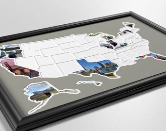 50 States Photo Map - USA
