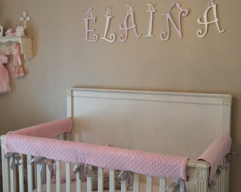 Embroidered Crib Rail Cover/ Crib Rail Pad/Set of 3, Create Your Own!