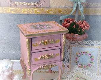 Table Roses 1/12. Dollhouse Furniture