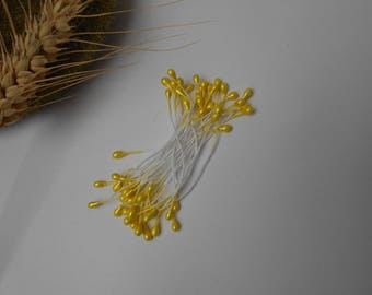 Stamens for yellow flowers - set of 30