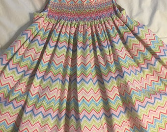 hand smocked sundress/jumper