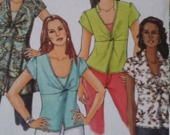 UNCUT and FF Pattern Pieces Vintage Butterick 4986 Sizes 8 thru 14 Top and Camisole