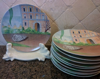 Gien France plates Le Palais Il Etait Une Fois plates collectible French plates & Gien   Etsy