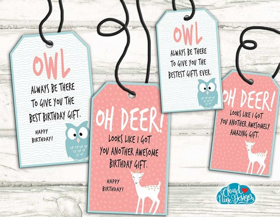 Gift tags birthday gift tags set of 4 funny gift tags gift tags birthday gift tags set of 4 funny gift tags printable gift for friends hipster gift thank you gift labels from cloud9designfl on etsy negle Image collections