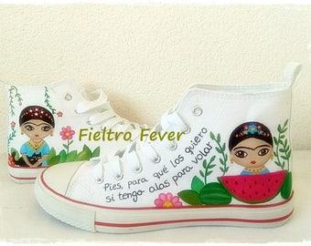 Frida Kahlo shoes, Frida Kahlo, Frida Kahlo Converse, Frida Kahlo sneakers, Frida portrait, Frida Kahlo portrait, Kahlo frida painting
