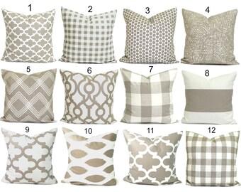 PILLOWS, Decorative Pillow, Throw Pillow, Accent Pillow, Euro Sham, Couch Pillow, Tan Pillow. Pillow Sham, Ecru, Cushion, Neutral, Farmhouse