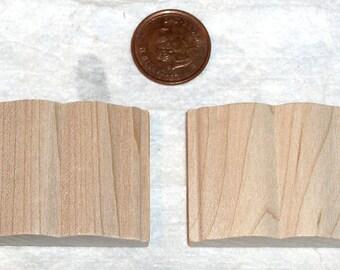 Miniature  2 Wooden Open Books - Paintable