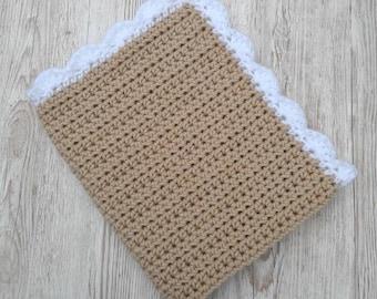 Crochet Blanket, Stroller Blanket, Chunky Knit Blanket - Made to order