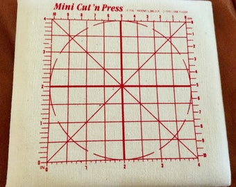"""Mini Cut and Press, 5"""" square, Quilting Supplies, Cutting Mat and Pressings Pad"""