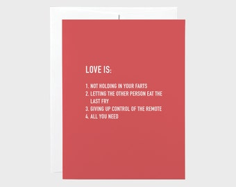 Funny Valentines Card | Love Is Card | Modern Love Card | Funny Wine Card | Funny Love Card | Anniversary Card