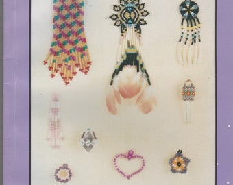 1990s How to Bead Earrings: An Artistic Approach Book by Lori S Berry Comanche Stitch, Beading Cabachons, Crystals, Flowers and More