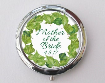 Mother Of The Bride Gift, Compact Mirror, Customized With Date