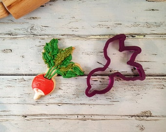 Radish Cookie Cutter or Fondant Cutter and Clay Cutter