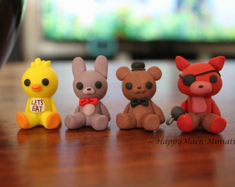 Five Nights At Freddy's Figures - Polymer Clay