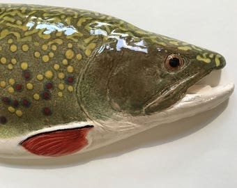 NYS Record Brooke Trout (2011)! - Ceramic Wall Art - 21""