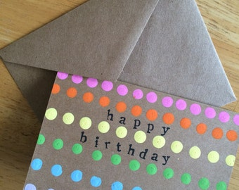 Birthday Cards // Set of 4 // Greeting Cards // Happy Birthday