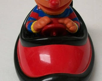 Vintage Tyco Sesame Street  Ernie In Red Bumper Car  With Broken Antenna - Battery Operated Toy Tested and Working