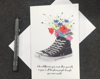 Wildflower Converse Greeting Card