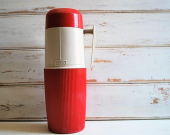 Vintage Red Thermos, Vintage Thermos, Red Thermos, Thermos