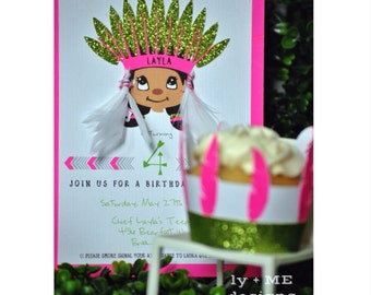 Indian Chief Pow Wow Invitations {12}
