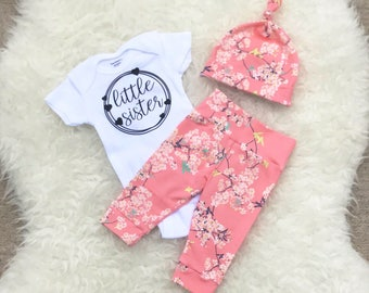 Cherry Blossoms 'Little Sister' Set - Hearts