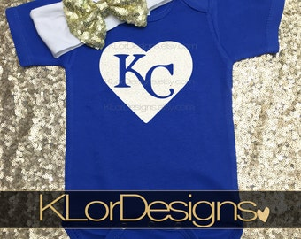 Kansas City Royals baby, newborn baby outfit, Newest KC Royals fan, baby girl clothing