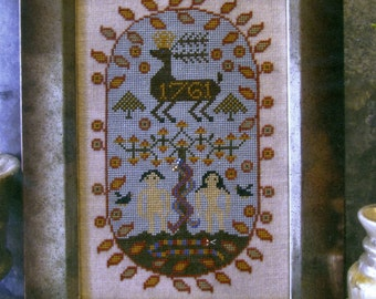 Three Snakes in Paradise by Carriage House Samplings Counted Cross Stitch Pattern/Chart