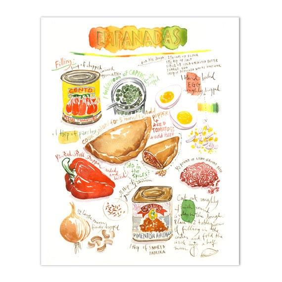 Empanada Recipe Print Illustrated Recipe Latin American Food