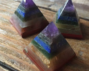 Chakramid | Chakra Balancing Pyramid | Small 1"