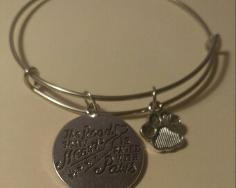 The Road to My Heart Is Paved With Paws Bracelet