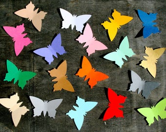 Paper butterflies, 150 pcs, ANY SIZE, Butterfly cut outs, Butterfly die cuts, Butterfly decorations, Butterfly party decorations