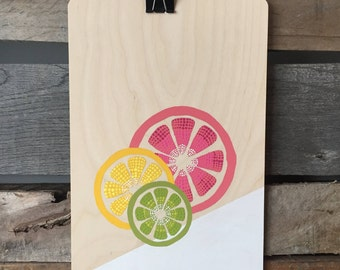 Wooden - citrus wall poster
