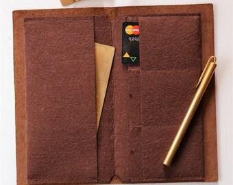 Felt Card Holder For Midori Travelers Notebook/Card organizer/Card holder/Journal Accessories