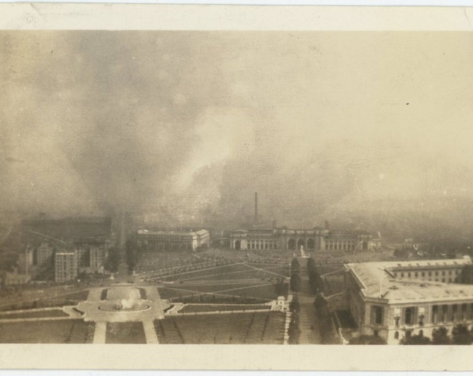 Vintage Snapshot Photo: View from Capitol Dome [83659]