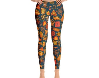 Leggings,Tribal,Indian,Womens,Yoga,Workout,Tights,Pants,Stretch,Spandex,Print,Pattern,Stretchy,Clothing,Fashion,Unique,Printed,Design