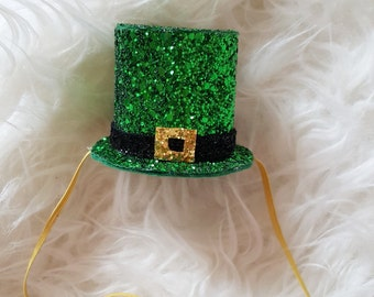 St. Patrick's Day, leprechaun hat, mini top hat, birthday hat, st. Patrick's day birthday