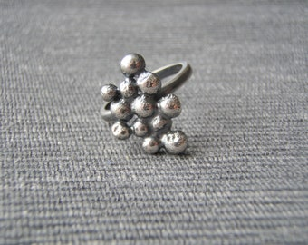 Statement ring, size N, bobble texture, oxidized black silver. FREE UK POSTAGE