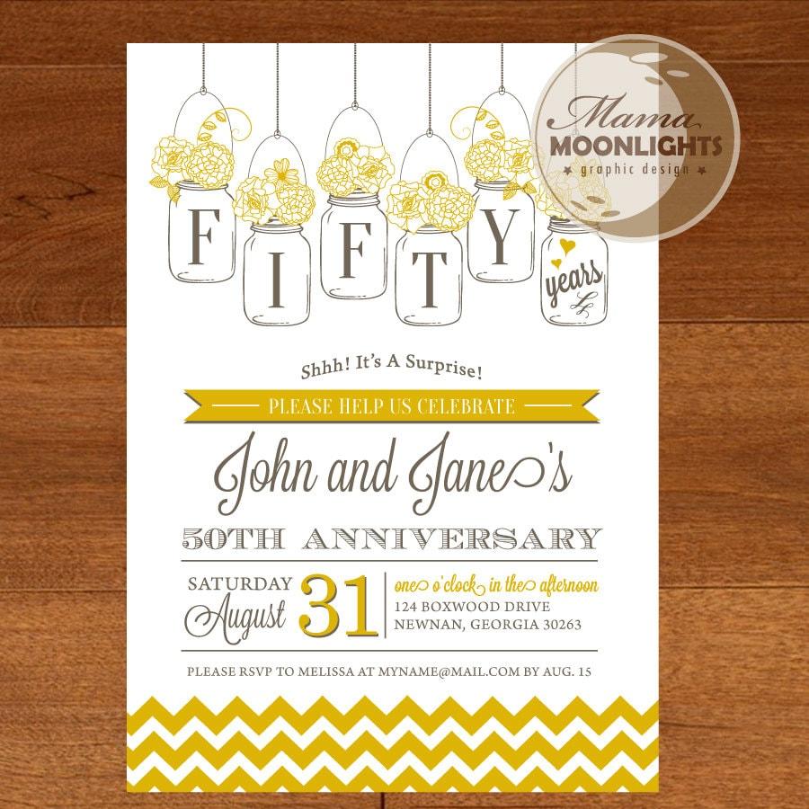 Diy Ideas For 50th Wedding Anniversary DIY 50th Wedding Anniversary ...