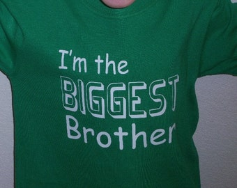 Big Brother shirt Youth Biggest Brother Shirt New By Oodlesdecals