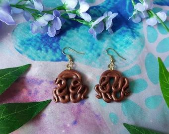 Space tentacles earrings