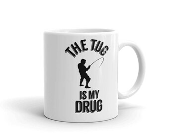 Fun Bass Fishing The Tug Is My Drug Angling Fisherman Mug