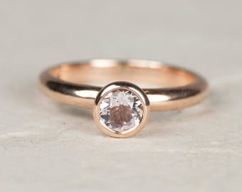 Morganite ring | Rose Gold Ring | Rose Gold Engagement Ring | Unusual Engagement Ring | Engagement Ring | Alternative Engagement Ring | pink