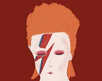 Ziggy Stardust Print