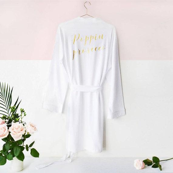 Poppig Prosecco\' Tag der Hochzeit Kleid Gewand zu kleiden