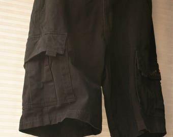 black mens shorts waist 28 with pockets