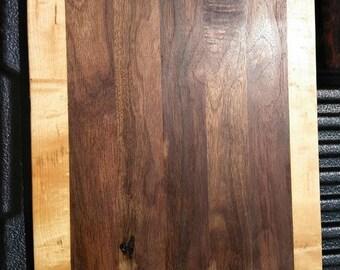 Handcrafted Walnut and cherry cutting board