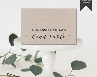 Head Table Names Etsy - Place card setting template